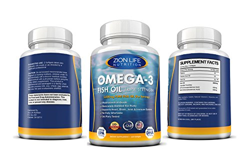1 rated zion life nutrition 39 s triple strength omega 3 for Top rated fish oil