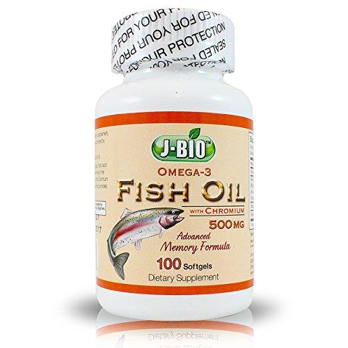 J bio omega 3 fish oil with chromium advanced memory for Fish oil memory