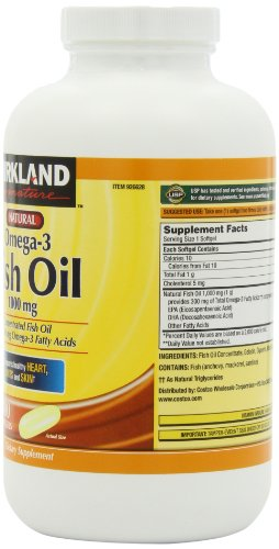 Kirkland Signature Natural Omega  Fish Oil Mg