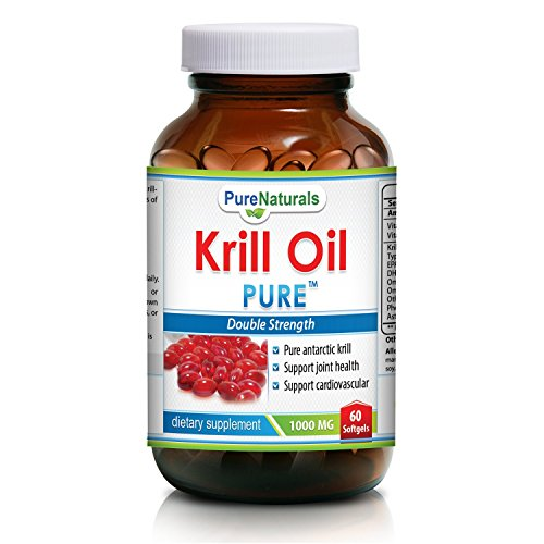 Krill oil 1000mg double strength 60 softgels for Fish oil with astaxanthin