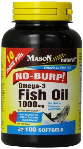 Mason vitamins no burp omega 3 fish oil 1000mg odorless for Vitamin shoppe omega 3 fish oil