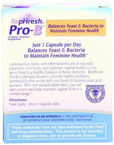 Rephresh Pro B Probiotic Feminine Supplement 30 Count